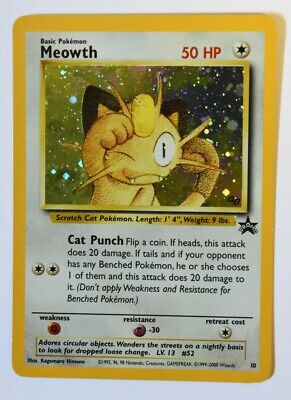 Pokemon Card - Meowth (#10) - Black Star Promo - HOLOFOIL - NM/M (see photos!)