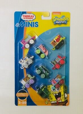 NIB Fisher-Price Thomas & Friends Minis Spongebob Squarepants Pack #4 Toy Set