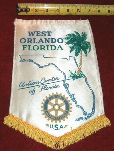 VINTAGE Rotary International Club wall banner flag    WEST ORLANDO  FLORIDA