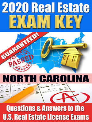 2020 NORTH CAROLINA AMP Real Estate Exam Prep Study Guide Questions&Ans [CD-ROM] Cd Rom Study Guide