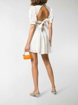 Self-Portrait broderie cotton mini dress UK8 US4