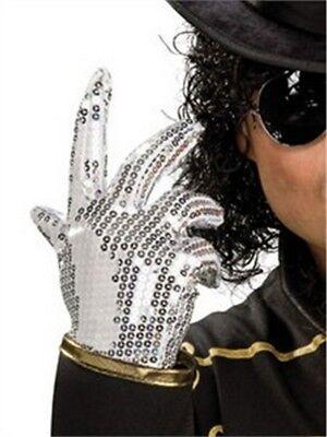 Child Michael Jackson Silver Sequined Glove - Michael Jackson Kids Glove