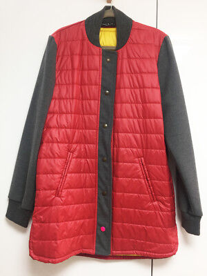 [That's it] Folks Red Gray Padded Unique Jacket Coat Sz M / New without Tags