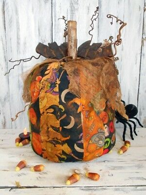 Pattern: Primitive/ Craft/ Pattern/ Halloween/ Scrap/ Pumpkin/ DIY/ Idea/ Decor/](Halloween Decor Ideas)