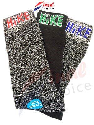 New Men's Assorted & Black Hike Cotton Rich Thick Work Socks for a lot of Boots