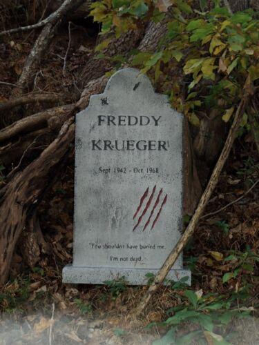 Freddy Krueger Tombstone Nightmare on Elm Street  Halloween Prop Yard Statue