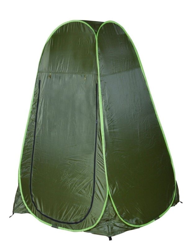 Army Green Portable Changing Room Shower Tent Camp Toilet Pop up Privacy Shelter