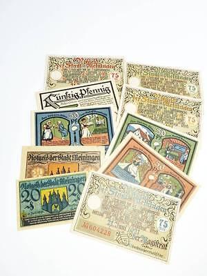kleiner Posten Notgeld MEININGEN Notgeldscheine 1921  X99