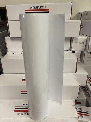 Roll White Vinyl 24 X 50 Yards 150 Feet Plotter Cutter Gloss Interflex