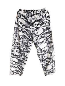 Mens Halloween Punk Rock Elastic Waist Pajama Sleep Lounge Pant Skull XL