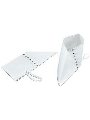 WHITE SPATS GANGSTER ADULT SHOE COVERS MEN'S ADULT 1920'S FANCY DRESS COSTUME