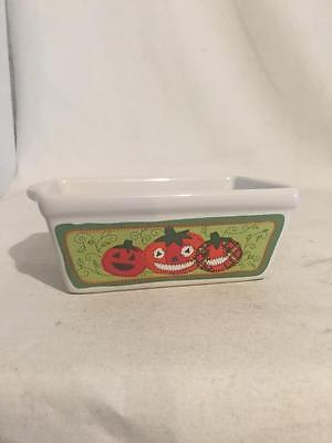 Ceramic Mini Loaf Bread Pans PUMPKIN Halloween (Halloween Pumpkin Bread)