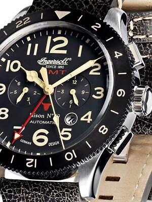 Ingersoll IN3224BK Bison No. 69 GMT Automatik 46mm