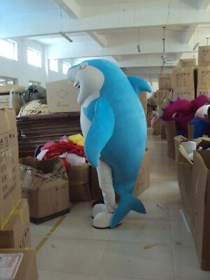 Blue Shark Mascot Costume Adults Character Cosplay Parade Outfit Party Game Dres - Game Character Costume