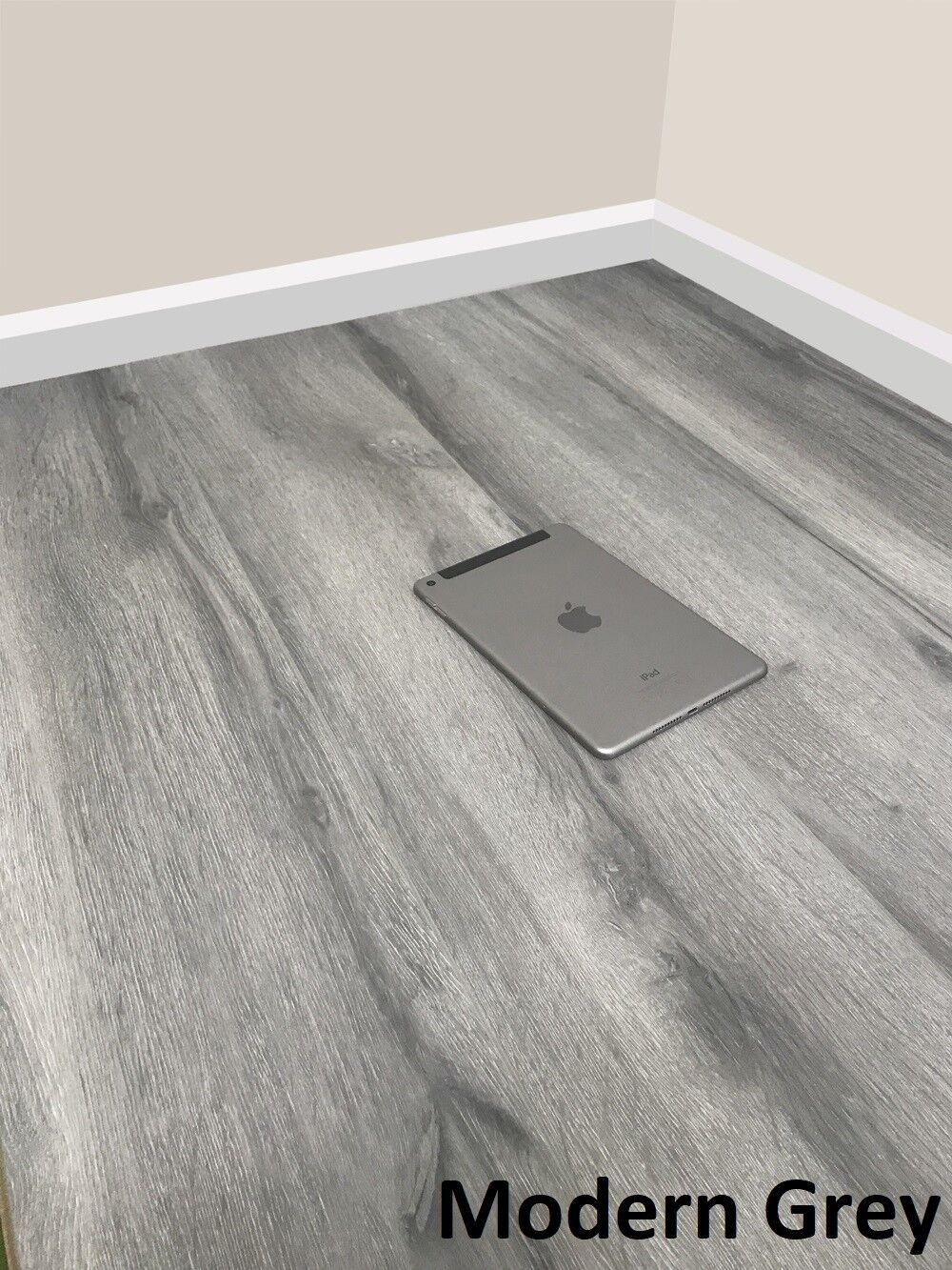8mm Laminate Flooring Sold Per M2 V Groove Ac4 Modern White Grey Stone