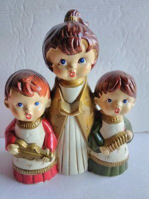 Vintage Christmas Choir Trio Wind Up Music Box K N Japan See Video ()