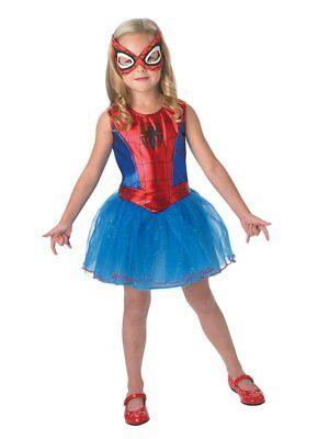 Rubies 3888884 - Spidergirl Child / Kinder Kostüm  S,M,L / ca. 3 - 8 Jahre Kleid