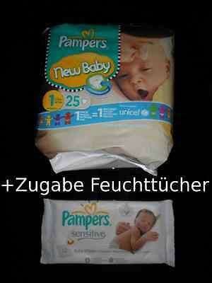 PAMPERS New Baby Windeln Gr.1 Newborn 2-5 kg (22Windeln) MENGENRABATT + Zugabe