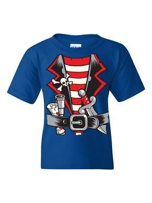 Pirate T-Shirt Pirate Costume  Unisex Youth Shirts