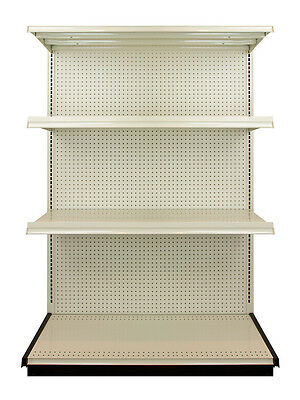 Lozier Heavy Duty Commercial Industrial Retail Shelving - 4 Foot Shelf Section