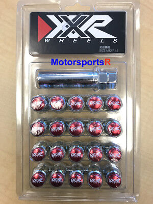 XXR Tuner Lugs 20 RED Conical Nuts 12x1.5mm XXR Wheels Lexus Mitsubishi Fit (Red Tuner Lugs Nuts)