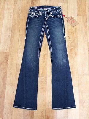 True Religion Jeans Woman Joey Super T Dark Urban Cowboy Size 23 NWT