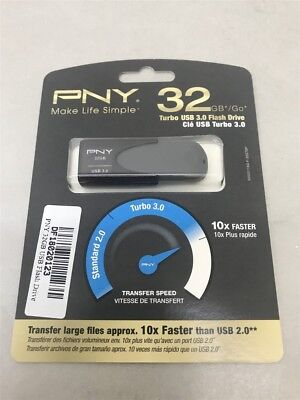 New PNY 32GB Turbo USB Flash Drive 3.0