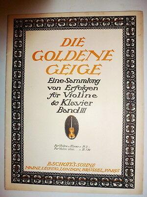 Die Goldene Geige - Sammlung von Erfolgen Band III, Noten nur für Violine
