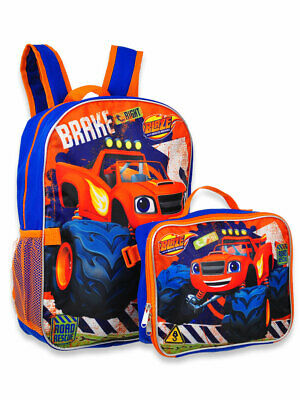 Blaze and the Monster Machines Boys School Backpack Book bag Lunch Box SET Kids