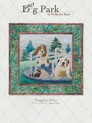McKenna Ryan Quilt Block Pattern, Dog Park, Doggone Dizzy - Block 5 Quilting