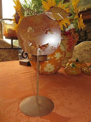 Halloween Decor Arty Metal Crafted Jack O Lantern Tea Light Holder Copper Finish (Arti Halloween)
