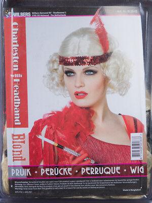 eston mit Stirnband rot Pailletten Feder Kostüm 129118913 (Kostüme Mit Roten Perücken)
