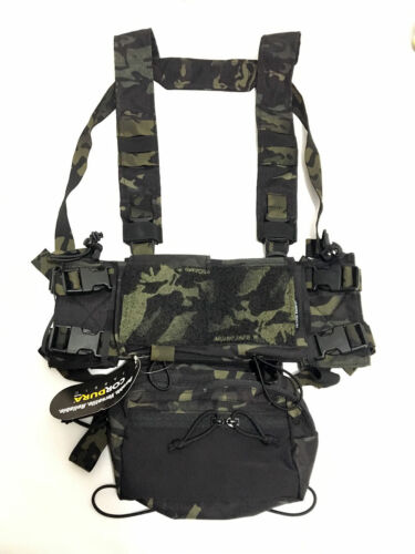 GI1098 Multicam Black Tactical Airsoft SS Micro Fight Chassis MK3 MK4 Chest Rig