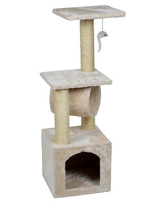 """Deluxe Cat Tree 36"""" Condo Furniture Scratching Post Kitten Pet Play Toy House"""