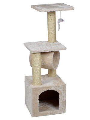 "Deluxe Cat Tree 36"" Condo Furniture Scratching Post Kitten Pet Play Toy House"