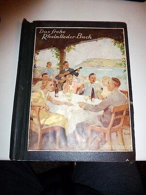 Das frohe Rheinlieder-Buch & Unsterbliche Walzer im Klemmbinder - Ende 1930ger J