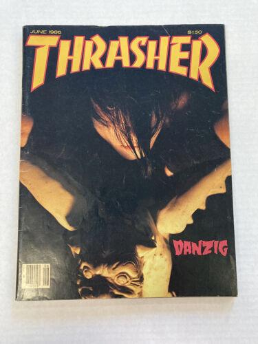 THRASHER MAGAZINE VG/FN 5.0 DANZIG COVER JUNE 1986