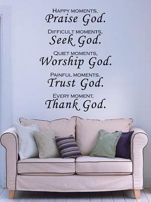 Praise God Bible Verse Vinyl Wall Stickers Decals Scripture Quote Art Word Decor Bible Verses Gods Word