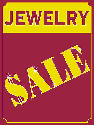 Jewelry Sale Retail Display Sign 18w X 24h Full Color