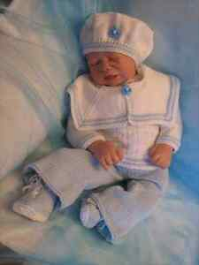 Honeydropdesigns * Little Sailor Boy * PAPER KNITTING PATTERN * Reborn/Baby