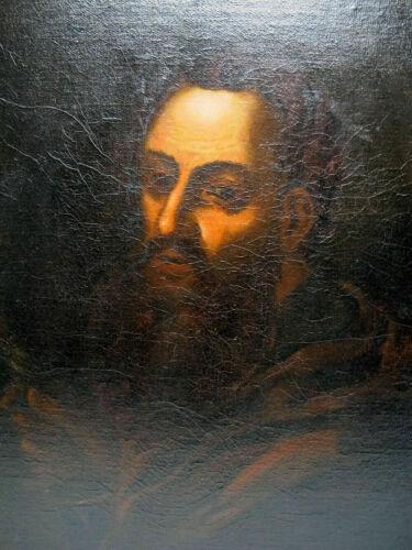 """PORTRAIT OF A SAINT"" JUSEPE DE RIBERA FOLLOWER ANTIQUE OLD MASTER  OIL PAINTING"