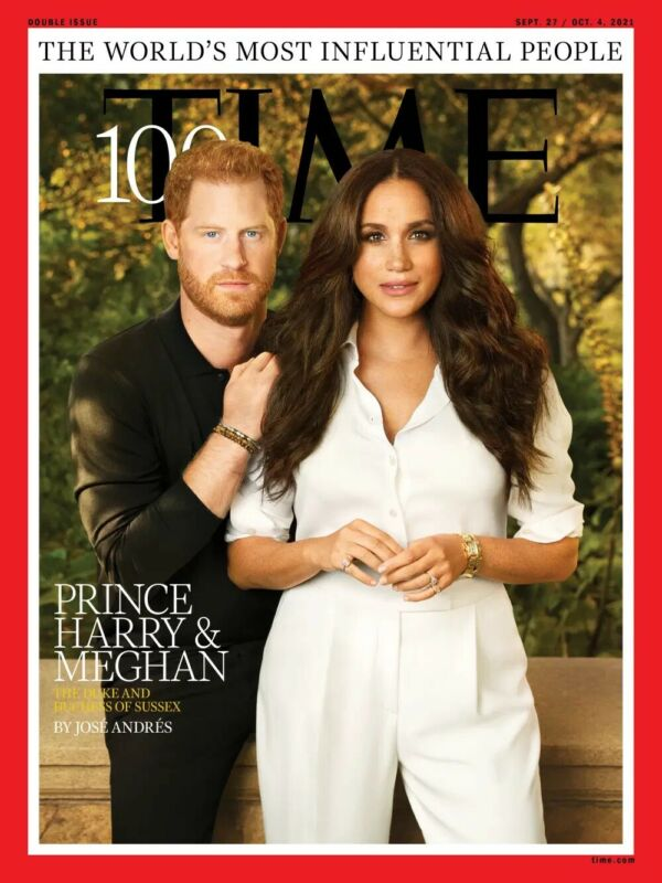 TIME 100-SEP 27-OCT 4, 2021-PRINCE HARRY/MEGHAN-DUKE/DUCHESS OF SUSSEX-PRE SALE