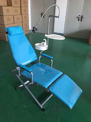New Dental Portable Folding Chair Water Supply System Led Light Dental Tray