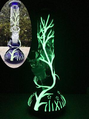 Glow in the Dark Hookah Water Pipe Bong Glass