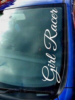 Girl Racer Funny Custom Car Window Windscreen Stickers Decals JDM VW Scene EURO