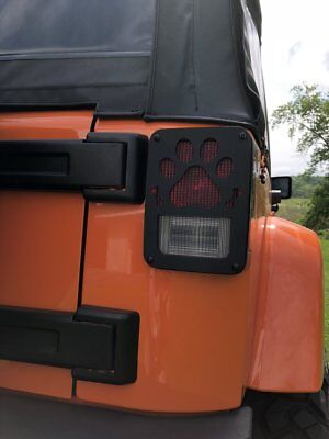 Paw And Bones Tail Light Guards for Jeep Wrangler JK 2007-18 JT18-B Jeep Tweaks