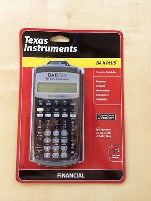 Texas Instruments TI BA II PLUS Financial Calculator,Brand New,Warranty,In stock