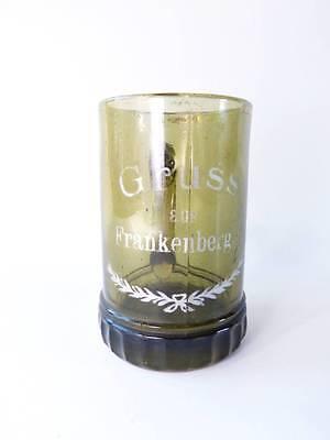 Andenkenglas Gruss aus Frankenberg Andenken Erinnerung Henkelglas Glas