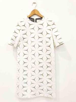 Designer Victoria Victoria Beckham Size 8 Cotton Blend Floral Women's Dress