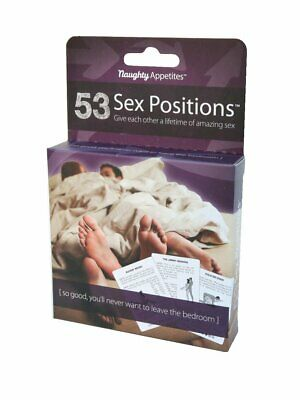 Naughty Appetites 53 Sex Positions Adult Card Game for Couples